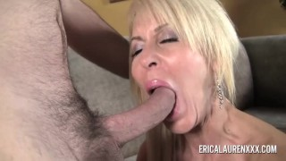 GFE Hot Blonde MILF and Young Stud Drilled cumshot