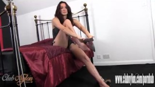 Hot sexy inside new pair slips long milf of stockings silky nylon legs her fetish lingerie