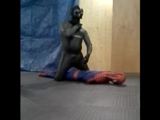 Oneill frogman humps and shoots over dummy spiderman