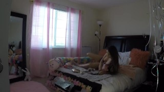 Preview 4 of Sami Parker Caught On Hidden Camera By Her Stepbrother