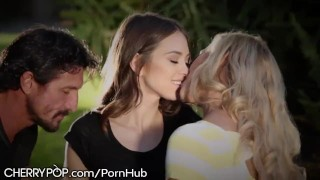 CherryPop Riley Reid Joins Couples Sexy Picnic