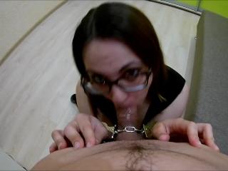 Handcuffed Porn Tube — Handcuffed Facefuck Nerdy Teen at Sex Strike