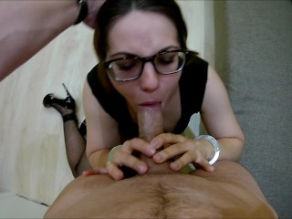 Handcuffed Facefuck Nerdy Teen