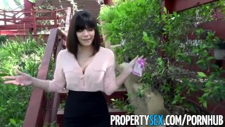 PropertySex - Gorgeous agent with big natural tits fucks homeowner Chemistry close