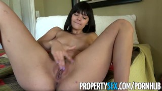 PropertySex - Gorgeous agent with big natural tits fucks homeowner Son son