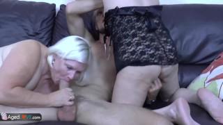 AgedLovE Blonde Mature Chubby Lacey Hardcore Fun