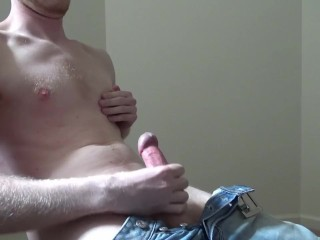 Horny Young Stud Sprays A Big Load On Himself -- JohnnyIzFine