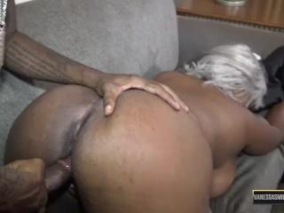 Busty Ebony Dick Suck and Hardcore Fuck