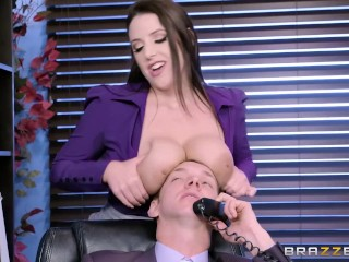 External Anal Hemorrhoid Angela The Horny Office Slut - Brazzers