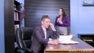 Brazzers - Angela the horny Office Slut work-fantasy big-cock huge-tits rough natural hardcore australian squirting office slut thick big-boobs secretary big-naturals orgasm brunette natural-tits brazzers