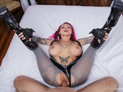 VR Porn Dino Crisis and her Big Tits Gobble Your Cock POV on VRCosplayX.com