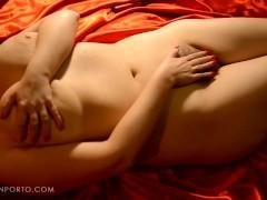 Katrin Porto – Curved redhead feeling the heat of juicy hairy pussy