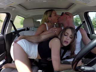 pornstar. exclusive. threesome culminated with cum leaking out of the hole. youthful woman with fat ass. guy with massive dick.  @johnnyandkissa