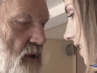 Sexy Ball Sucking Old Young - Big Cock Grandpa Fucked By Teen She Licks Thick Old Man Penis