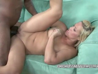 Blonde MILF Jaycie Lane takes a cock from a black dude