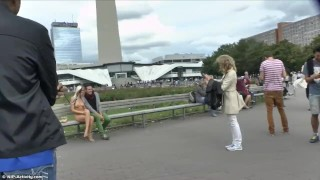 Paris streets naked teen blonde public on blonde outside