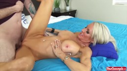 Hot blonde MILF Emma Starr gets filled with cum by a big dick - Mrs. Creamp