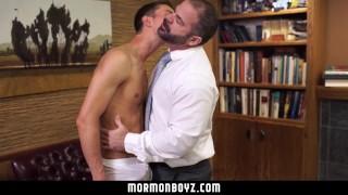 MormonBoyz Missionary stud tops a daddy priest