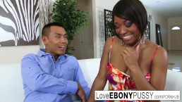 Ebony hottie Imani Rose is alw