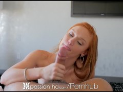 PASSION-HD Pink nippled ginger Alex Tanner toys wet pussy