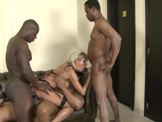 Sara Sanderson Nude Fucking, Old Big Tit Cougar Gets Gangebanged By Monster black Cocks Interracial MILF
