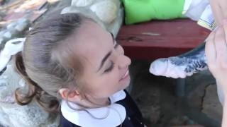 Female horny teeny succubus schoolgirl's fucks toy small
