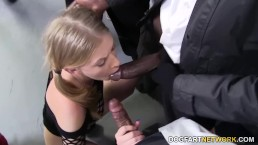 Interracial Gangbang With Allie James