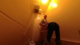Toilet voyeur urination HD POV
