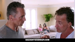 DaughterSwap - Dads fuck the lesbian out of their daughters  alexa raye tiffany jade dads blonde cumshot hardcore smalltits shaved daughterswap bigcock facialize facial doggystyle daughter