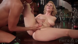 Bartender Cherry Torn Seduced By Stripper Nikki Darling Brunette fingering