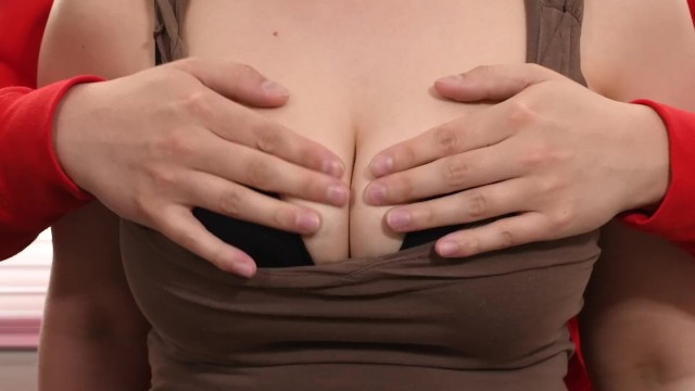 How to fondle breast First time fondling all natural 32ddd tits on camera