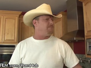 Cowboy Dad Fucks Daughters Teen Friend