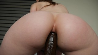 Ashley Alban - A bbc in Ashs ass Teen cock