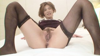 Japanese cougar is eager to get her pussy fucked