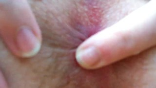 Peeing my panties after being fucked hard - Cum and piss in my pussy