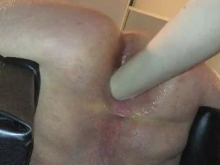 Big dick tiny cunt femdom ass fist male slave in chair femdom fisting anal fisting fisting