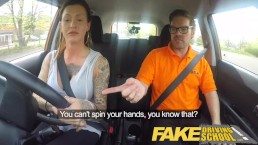 Fake Driving School Advanced horny lesson in sweaty messy creampie