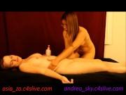 Naked girl/girl massage- andrea sky