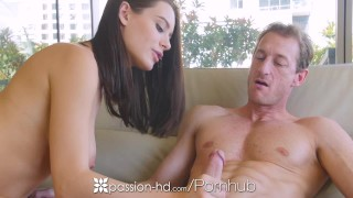 Preview 4 of PASSION-HD Beautiful eyed Lana Rhoades fucks her much older boyfriend