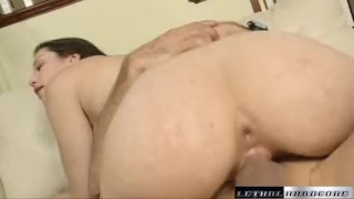 Anastasia stops by to get fucked and filled by a huge cock