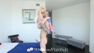 Tiny4k Tiny Piper Perri sucks and fucks tasty big dick on memorial day