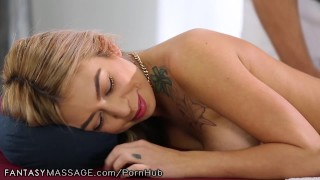 FantasyMassage She Can't Stop Squirting  female ejaculation big tits older younger pussy rubbing hairy reverse cowgirl squirt asian blowjob cumshot massage squirting fingering orgasm tattoos big boobs fantasymassage