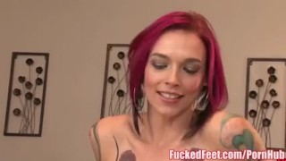 Amazing footjob red feet head gives bell scene peaks anna fucked in oiled big