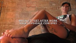 Magali's Feet After Work - www.c4s.com/8983/17751088