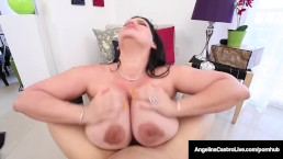 Cuban BBW, Angelina Castro Gives Her Trainer A HOT Blow Job!