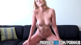 PropertySex - Landlord gets fucked by criminal tenant  doggy style point of view funny blonde cumshot pov propertysex missionary hardcore cowgirl swallow orgasm tenant bubble butt eviction landlord