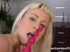 Anal toys and incredible pussy pumping