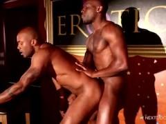 NextDoorEbony Muscular Strippers Fuck on Stage