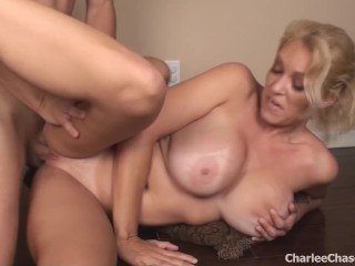 Hollywood Erotic Boutique Fucking, Big Titty Blonde Charlee Chase Gets Fucked For a Work Out Big Tits