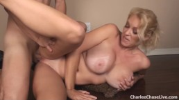 Big Titty Blonde Charlee Chase Gets Fucked For a Work Out!